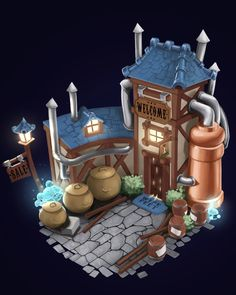 ArtStation - Alchemy shop, Anton Mazur