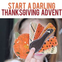 Create a darling Thanksgiving advent