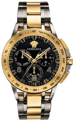 Looking for Versace Dress Watch (Model: ? Check out our picks for the Versace Dress Watch (Model: from the popular stores - all in one. Swiss Made Watches, Swiss Army Watches, Best Watches For Men, Luxury Watches For Men, Awesome Watches, Thomas Sabo, Black And Gold Watch, Black Gold, Versace Men