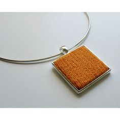 Amber Yellow Square Pendant, Statement, Knitted, Wool, Cute Jewelry,... ($20) ❤ liked on Polyvore featuring jewelry, pendants, square pendant, charm pendants, yellow pendant, geometric pendant and amber jewelry