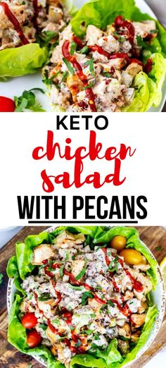 This low carb lunch recipes that you can make on the weekend for meal prep is PERFECT for my keto diet.  I am so happy I found this Keto Chicken Salad with Pecans.  Is is easy to make and SO full of flavor.  #keto #kickingcarbs #lowcarb #dinner #healthy #ketochickenrecipes #Ketolunchideas #recipe