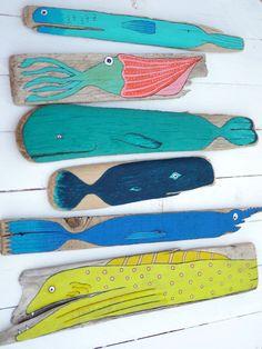 Des idées très sympa de peinture sur bois flotté :) | Finistère | Bretagne | #myfinistere