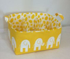 XL Diaper Caddy 13x11x7 Fabric Bin Fabric Storage by Creat4usKids, $58.00