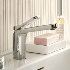 Fantini Waschtischmischer Levante   Rodolfo Dordoni   modernes Design   zwei Oberflächen