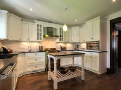 Casual Kitchen Ideas. #Kitchen #Ideas -- GOOD BASIC, WITH BETTER BACKSPLASH AND YELLOW WALLS WOULD BE NICE