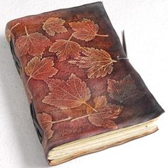 Truly unique leaves leather journal | GILD Bookbinders | Flickr