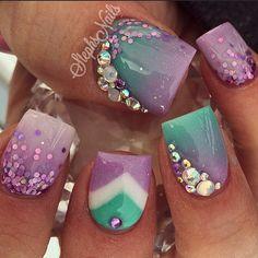 Mint & Purple