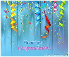 Beautiful congratulations card.