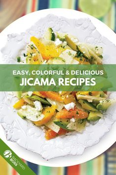 From fries to slaw to pie, jicama makes a great component to almost every meal. We love its crispy raw texture, and equally love it baked, air-fried or simmered in spicy soups. These are our 26 absolute favorite jicama recipes. Try them all! Jicama Fries, Jicama Slaw, Garden Vegetable Recipes, Vegetable Gardening, Side Dishes For Bbq, Side Dish Recipes, Jicama Recipe, Spicy Soup, Mango Salad