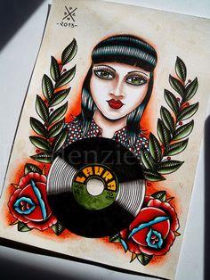 Skinhead Girl / Skinbyrd Tattoo