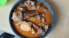 Fufuo ne Nkrakra Caribbean Food, Caribbean Recipes, Ghana Food, Pot Roast, Pork, Mexican, Tasty, Ethnic Recipes, Carne Asada