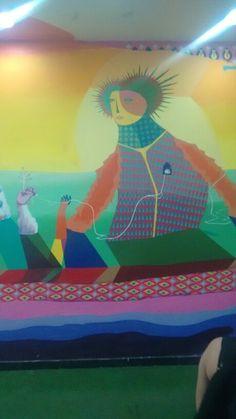 Detalhe do Mural Acidum no North Shopping Fortaleza