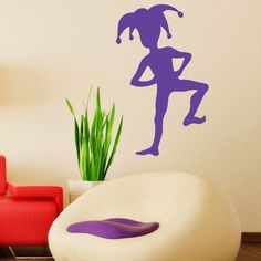 Jester Mardi Gras Wall Sticker