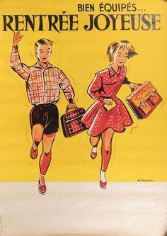 Bien équipés... Joyeuse rentrée - 1960's - (R. Hennin) -