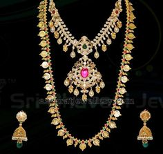 Jewellery Designs: Gold Plain Long Set by Bhavani Jewels