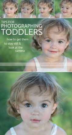 great tips for getting your toddler to sit still and look at the camera so you can get great photos - #5 is my favorite!