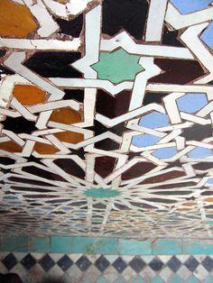 Moroccan Mosaic Tilework, Saadian Tombs - Marrakech