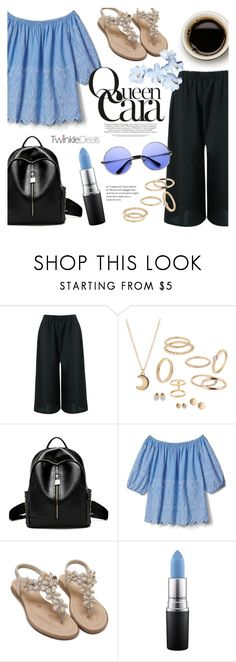 """""""Queen Cara ~ TwinkleDeals #4"""" by alexandrazeres ❤ liked on Polyvore featuring Gap, MAC Cosmetics and ZeroUV"""