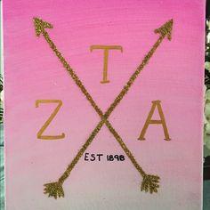 Zeta Tau Alpha Canvas ZTA Ombré Canvas Other