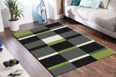 New Patterned Modern Designer Jewel Floor Lime Rug Mat