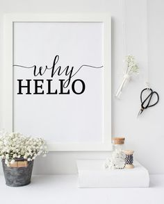 fashion print why hello Print printable art by PrintableLifeStyle