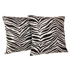 Black Zebra Pillow Covers set of two 18 x 18 by iHeartPillows, $30.00