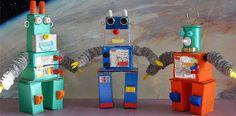 Como hacer robots con cajas de caramelos. Manualidades para niños. veces no sabemos cómo reciclar las cajas de cartón que vamos acumulando en casa. La solución es utilizarlas para hacer manualidades fáciles y divertidas con los niños. El reciclaje