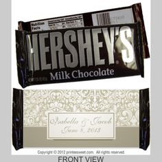 Wedding 1201--This is an elegant design. Perfect for any wedding. Personalize and customize the wedding wrappers in real time. See exactly what the candy bar will look like before you place your order. Change or add text, change colors, add photos and more. It is fun and easy! Give it a try today!