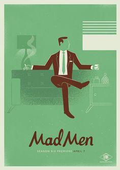 Delightful Mad Men Posters That Feature Distinctive Character Elements - DesignTAXI.com