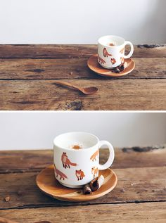 Foxes mug / Tasse renards - Bird on the wire www.botw.fr