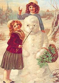 Snowmen aren't forever, but Christmas memories are. / Christmas Card Art - Postcard - Posters