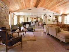Wood ceilings doesn't have to mean rustic!