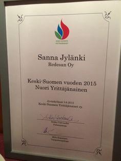 Vuoden keski-suomen nuori yrittäjänainen 2015