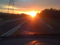 A sunset driving back home!