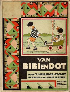 T. Hellinga-Zwart, Van Bibi en Dot,1929. Cover and interior illustrations by Sijtje Aafjes.