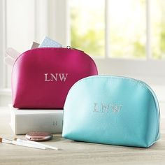 Girls Classic Leather Beauty Pouch #pbteen