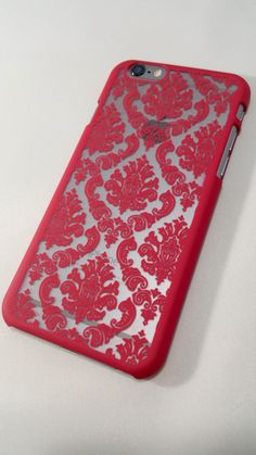 Vintage Red Damask iPhone Case  Perfect for Valentine's Day!