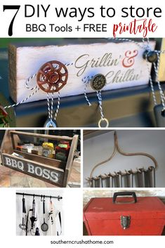 Bbq Grill Diy, Grilling, Bbq Signs, Grillin And Chillin, Bbq Tools, Backyard Bbq, Summer Evening, Tool Storage, Summertime