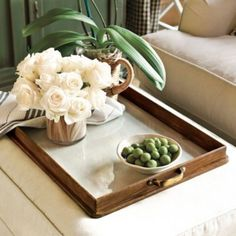 Newport Tray  | Home Accessories | Ballard Designs - Should I put this on my soon-to-be-ordered ottoman coffee table?
