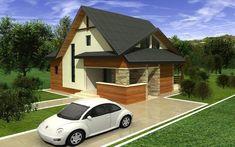Proiect casa pe structura metalica S-125PM Happy