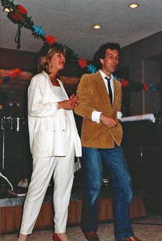 Afscheid Adri de Vries - zomer 1984 Annabel van Ditmar en Jaap van der Steur