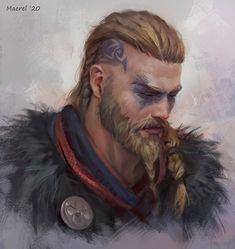 The Assassin, Arte Assassins Creed, Assassins Creed Odyssey, Viking Men, Viking Warrior, Fantasy Portraits, Character Portraits, Dark Fantasy, Final Fantasy