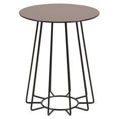 Konferenční / noční stolek Goldy, 50 cm, zlatá - 1