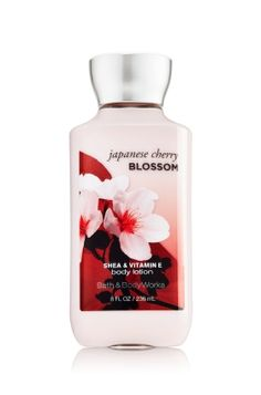 Japanese Cherry Blossom - Body Lotion - Signature Collection - Bath & Body Works - America's #1 Body Lotion! Infused with Shea Butter and our exclusive Daily Moisture Complex, our enhanced lotion contains more of what skin loves, leaving it feeling incredibly soft, smooth and nourished. Fortified with nutrient-rich ingredients like protective Vitamin E and conditioning Vitamin B5, our fast-absorbing, non-greasy formula delivers 16 hours of continuous moisture.