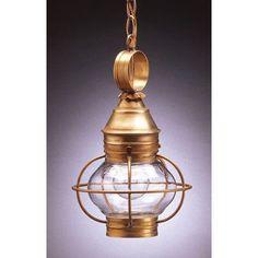 Northeast Lantern Onion 1 Light Outdoor Hanging Lantern Finish: Dark Antique Brass, Shade Type: Frosted