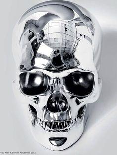 Herve Lewis, Skull Num 1, Chrome Reflexion, 2012…