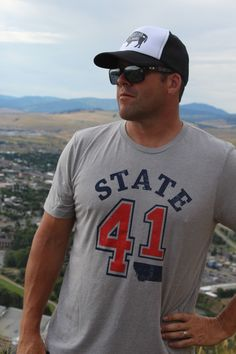 State 41 Triblend Tee in Athletic Heather