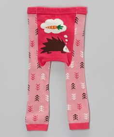 Pink Hedgehog Leggings by Doodle Pants