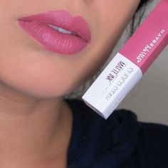 Maybelline SuperStay Matte Ink in Lover Lip Swatch Maybelline Superstay, Maybelline Matte Lipstick, Best Matte Lipstick, Lipstick Swatches, Makeup Swatches, Lipstick Shades, Lipstick Colors, Mac Lipstick, Lip Colours