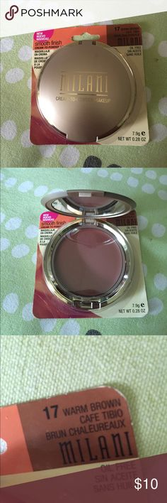 💕1 LEFT MILANI cream-to-powder makeup💕 New without tag! Included mirror and sponge. Made in USA🇺🇸. Check out my closet for more amazing brand new items.😊😍💕💕💕 Milani Makeup Face Powder